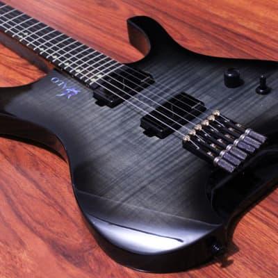 Halo Guitars Octavia 6 String Headless Fluence Modern Humbuckers Swamp Ash Body with Hard Case for sale