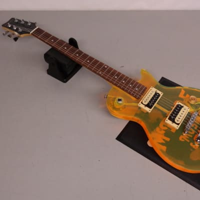 Galveston LP-Style Acrylic Guitar Yellow-Green for sale