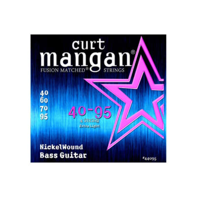 NEW Curt Mangan Nickel Wound Bass Strings - .040-.095