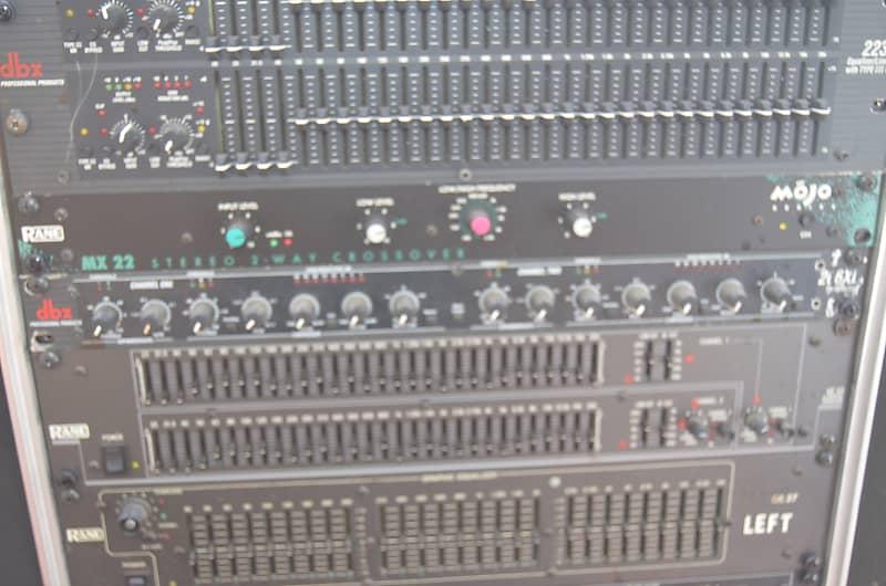 Rane MX22 mojo series 2 way stereo crossover FOH live sound design black