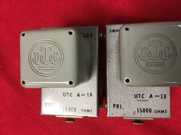 Pair of UTC A-18 A18 Interstage Audio Transformers Push-Pull Applications  etc