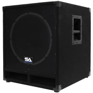 "Seismic Audio Baby-Tremor-PW Powered 1x15"" 300w Subwoofer Speaker"