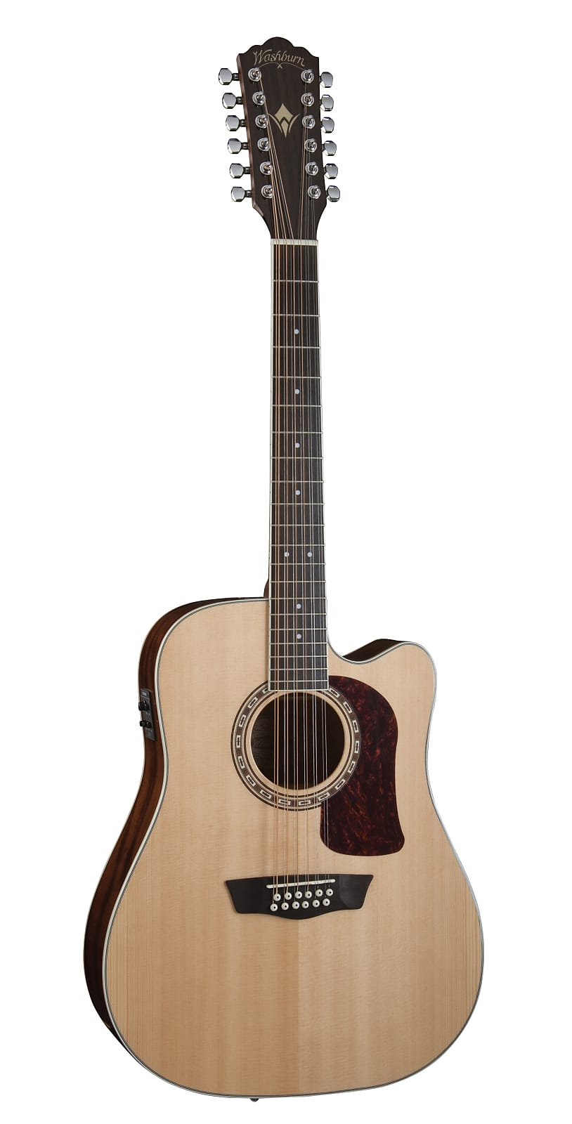 Washburn Heritage D10SCE 12-String Solid Sitka / Mahogany Cutaway Dreadnought A
