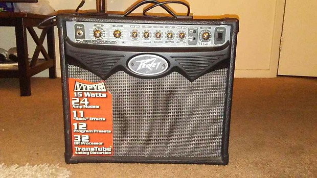 "Peavey vypyr 15 1x8"" modeling guitar combo amplifier 15w."