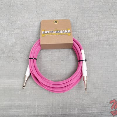 Rattlesnake Cable 15' Standard in Pink Straight Plugs