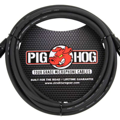 Pig Hog 10' 8mm XLR Tour Grade Microphone Cable Black PHM10