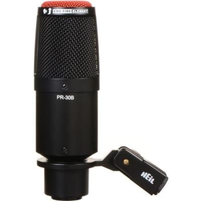 Heil Sound PR30B Large Diameter Dynamic Cardioid Studio Microphone, Black Body, Red End Grill