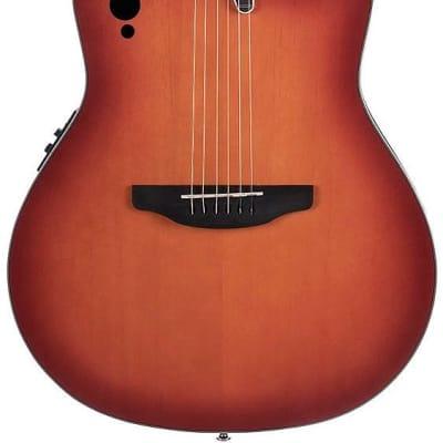 Ovation AE48-1i Applause Elite Super Shallow Body 6-String Acoustic Electric Guitar-Honey Burst