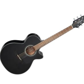 Takamine GF30CE BLK G30 Series FXC Concert Cutaway Acoustic/Electric Guitar Gloss Black