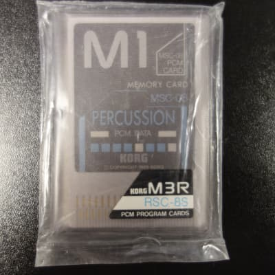 Korg M3R Memory cards RSC-8S Percussion 1989