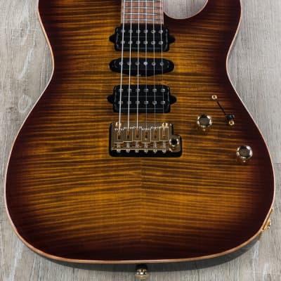 Suhr Modern T Custom HSH Electric Guitar Flame Maple Bengal Burst w/ Hard Case