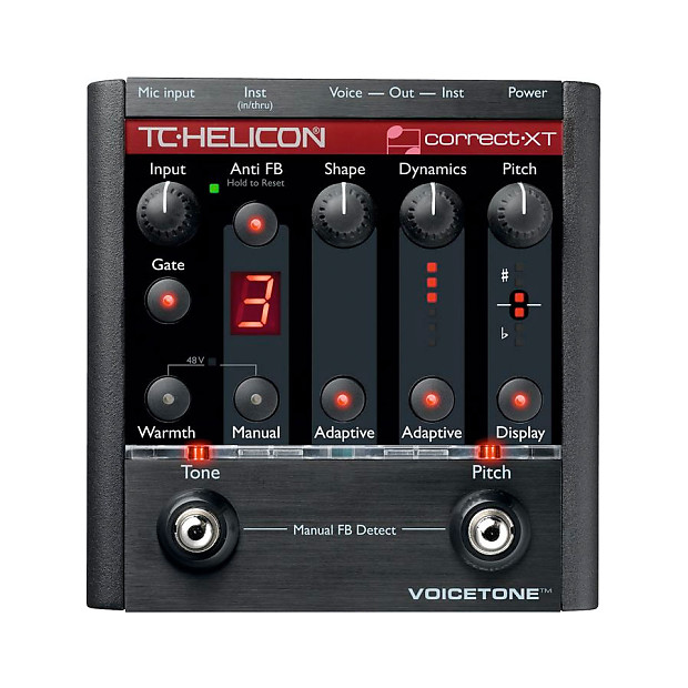 tc helicon voicetone correct xt vocal effects processor reverb. Black Bedroom Furniture Sets. Home Design Ideas