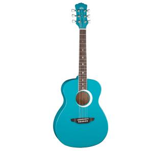 Luna Aurora Borealis 3/4 Acoustic Guitar Teal Sparkle for sale