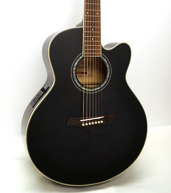 Ibanez Ael207e 7 String Acoustic Electric Guitar Reverb
