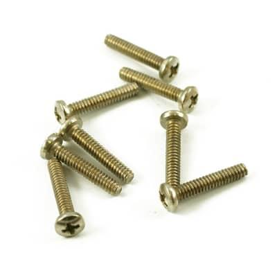 Replacement Single Coil Pickup Screws Nickel - Set of 8 - Nickel
