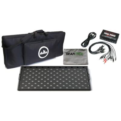Temple Audio Trio 43 Gunmetal Gray Pedalboard w/Soft Case, Power Supply, and Cloth