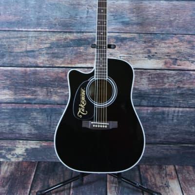 Takamine Left Handed EF341SC-LH Acoustic Electric Guitar for sale