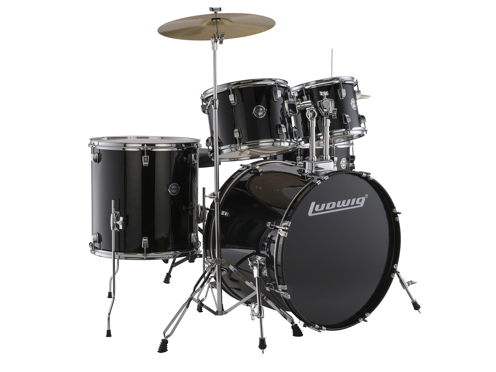 Ludwig LC170 5pc. Accent Fuse Complete Drum Kit - Black 2019