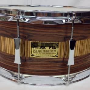 "Pork Pie PP65X14RZ 6.5x14"" Rosewood Zebra Maple Snare Drum"
