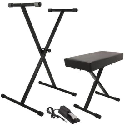 On-Stage KPK6550 Keyboard Stand/Bench Pack w/ KSP100 Sustain Pedal