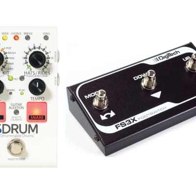 Digitech SDrum Strummable Drums Guitar Pedal! w/ FS3X Footswitch!