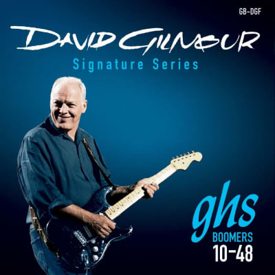 GHS David Gilmour Signature Series Guitar Strings GB-DGF Blue 10-48
