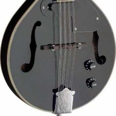 Stagg Model M50E/BLK Black Acoustic/Electric A-style Bluegrass Mandolin for sale