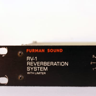 Furman RV-1 Reverberation System with Limiter