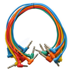 """Seismic Audio SARAPC3n Right-Angle 1/4"""" TS Patch Cables - 3' (10-Pack)"""