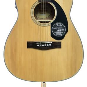 Fender CC-60SCE Solid Spruce/Mahogany Cutaway Concert w/ Electronics Natural