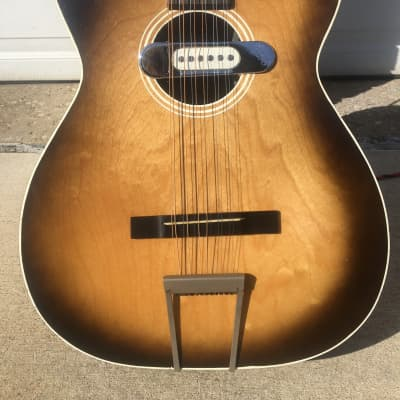 Stella 922 12 String 1950s Sunburst w DeArmond for sale