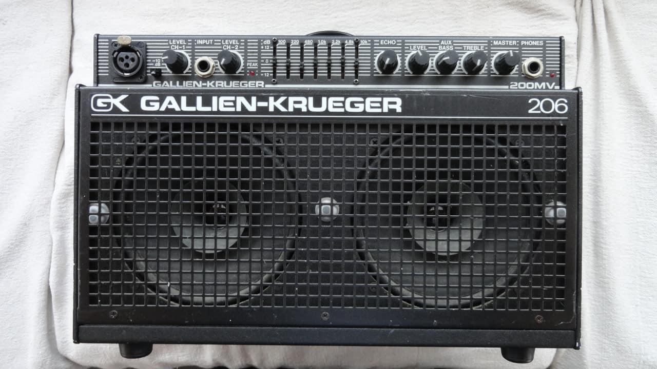 Gallien Krueger 206 200mv Combo Guitar Amp Pa System Reverb