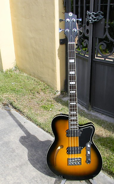 Musical Instruments & Gear Original Reverend Guitars Dub King Bass In Tobacco Burst Finish Moderate Price Bass Guitars
