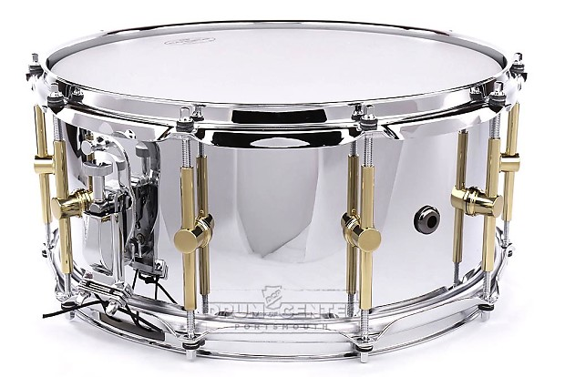 canopus 39 the steel 39 snare drum 14x6 5 w flanged reverb. Black Bedroom Furniture Sets. Home Design Ideas