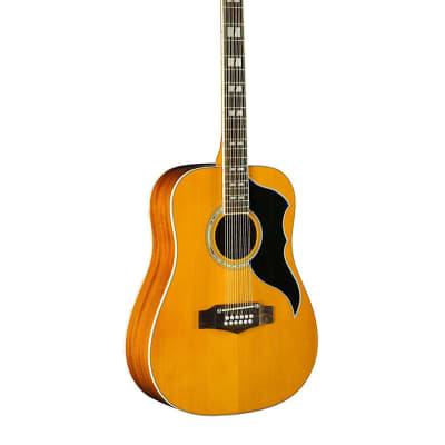 Eko Ranger 12 Dreadnought Vintage Reissue Natural Spruce Top Acoustic Guitar New for sale