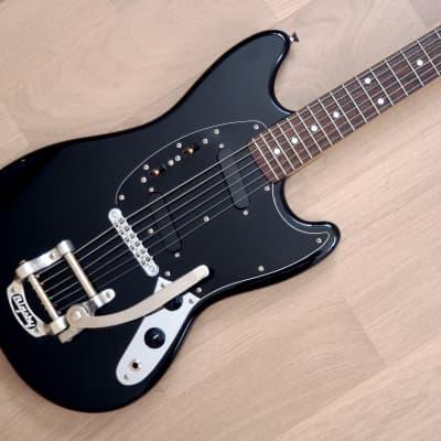 2011 Fender Mustang MG69-BIGS Black w/ USA Bigsby B5, Custom Ordered, Japan MIJ for sale