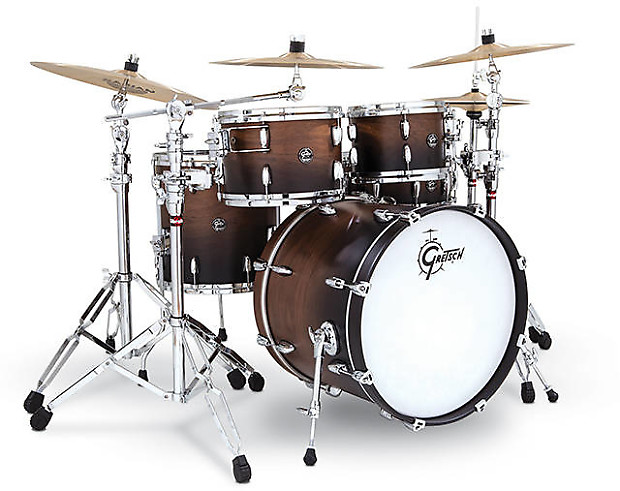 Gretsch renown birch 4pc drum set tobacco burst for 6 degrees salon portsmouth