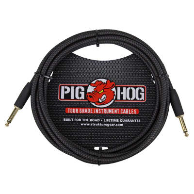 Pig Hog Vintage Series 10 Foot Instrument Cable - Black