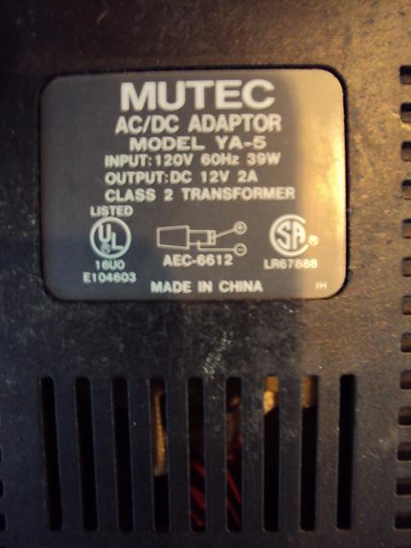 Mutec YA-5 AC / DC Adapter Power Supply For Yamaha Keyboards