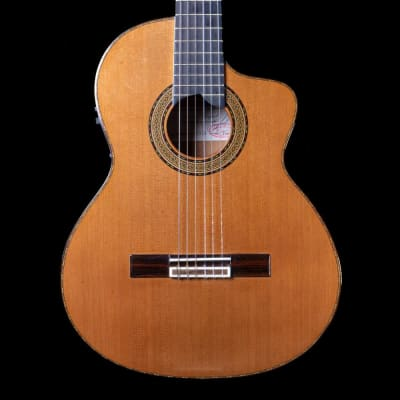 Amalio Burguet 2008 Noguera Walnut Electro-Classical Guitar in Natural, Pre-Owned for sale