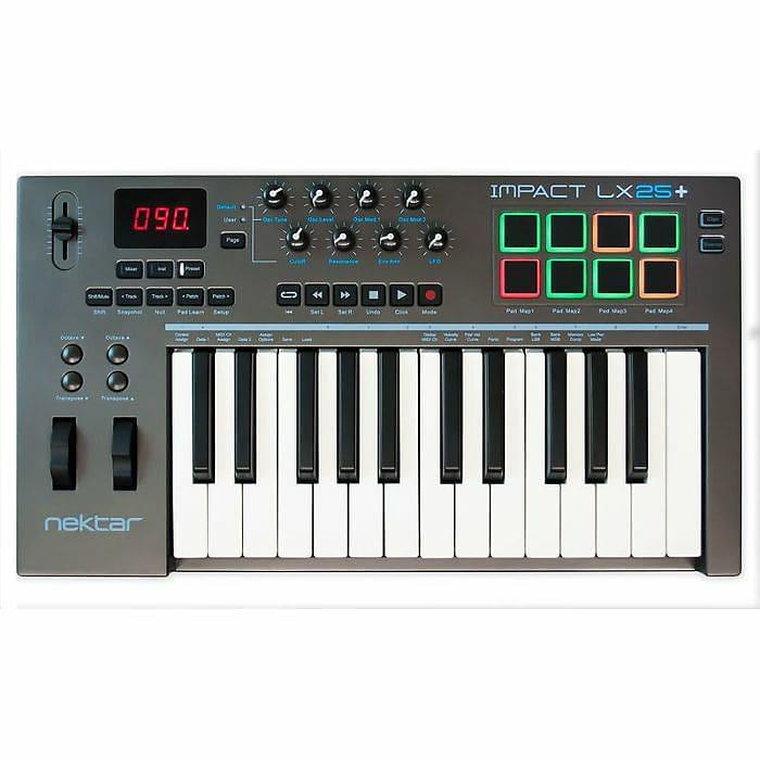 Nektar Impact LX25+ USB MIDI Controller Keyboard With Bitwig | Reverb