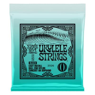 Ernie Ball 2326 Concert/Soprano Nylon Ball End Ukulele Strings - Black