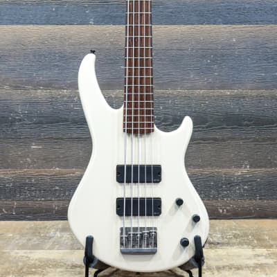 Godin BG-5 Signature Series EMG Soapbar Pickups White 5-String Electric Bass w/Bag for sale