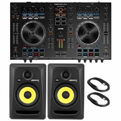 Denon DJ MC4000 2-Channel Serato Controller with KRK Rokit RP5G3 5″ Powered Monitor Speakers Package