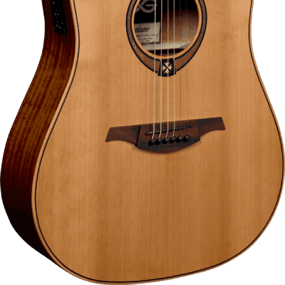LAG T70DCE Tramontane Dreadnought Cutaway Natural (B-Stock) for sale