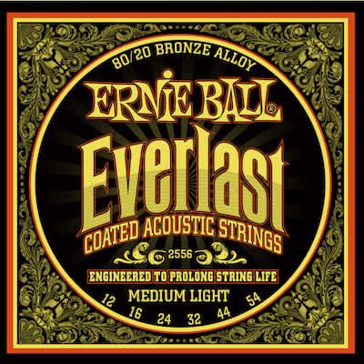 Ernieball Everlast Coated Acoustic Guitar Strings 80/20 Bronze Medium Light 12 - 54