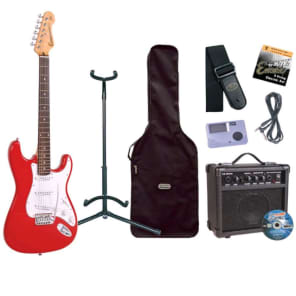 Encore E6 Electric Guitar Outfit, Red for sale
