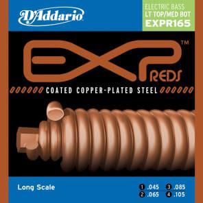 D'Addario EXPR165 Reds Bass Guitar Strings Regular Light Top/Medium Bottom 45-105 Long Scale