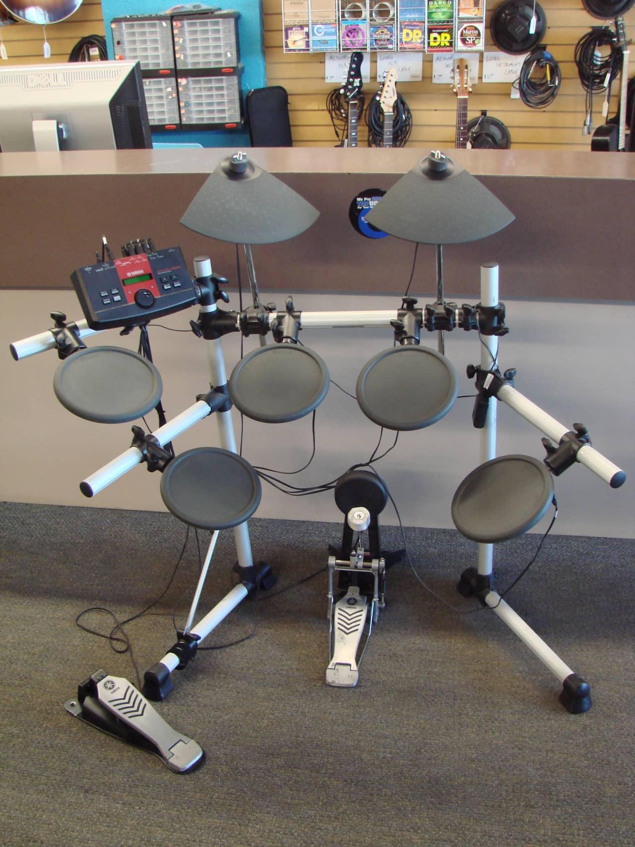 Yamaha dtxplorer five piece electronic drum kit rs40 rack for Yamaha drum pads