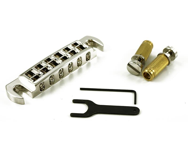 TonePros Wraparound Bridge/Tailpiece, AVT2G Nickel | Reverb